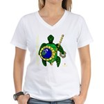 Eco-Warrior Women's V-Neck T-Shirt