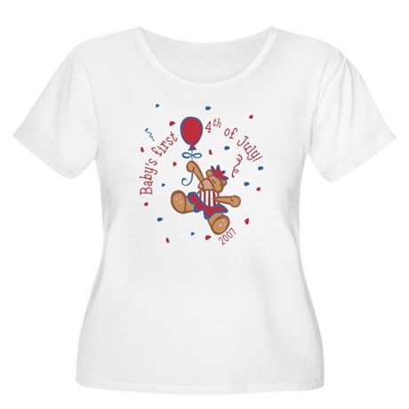 1st 4th Bear (Girl) Women's Plus Size Scoop Neck T