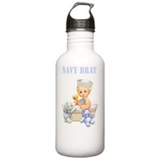 Navy Brat Baby Boy (Bl Water Bottle