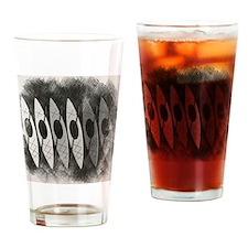 kayak pencil sketch Drinking Glass