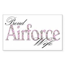 Proud airforce wife.. Rectangle Decal