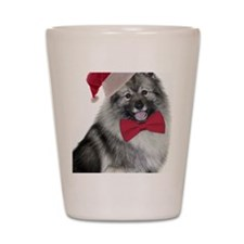 Santa Keeshond Shot Glass