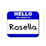 hello my name is rosella  Postcards (Package of 8)