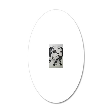 Dalmatian 20x12 Oval Wall Decal