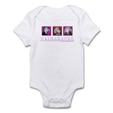 Weimaraner Trio Infant Bodysuit