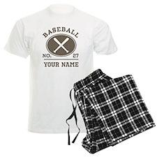 Personalized Baseball Number Player Name Pajamas
