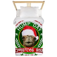 Hump Day Camel Christmas Ale Label Twin Duvet