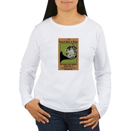 French Horn of Doom Women's Long Sleeve T-Shirt