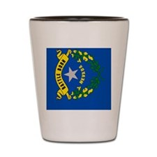 Nevada Flag Shot Glass