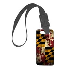 Maryland Flag Grunge Luggage Tag