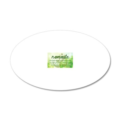 Namaste Mantra Womens T-Shir 20x12 Oval Wall Decal