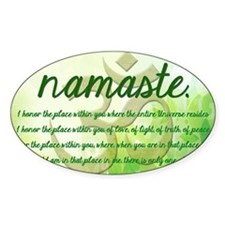 Namaste Greeting Decal