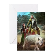 The White Wolf Prophecy Lovers Greeting Card