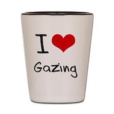 I Love Gazing Shot Glass