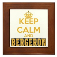 Keep Calm and Bergeron Tee Framed Tile