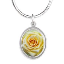 yellow Silver Oval Necklace