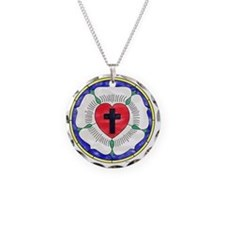 Luther Seal Stained Glass Mo Necklace