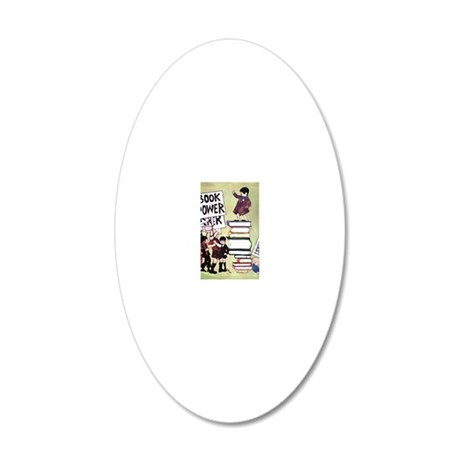 1969 Childrens Book Week 20x12 Oval Wall Decal