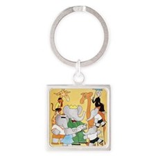 1978 Childrens Book Week Square Keychain