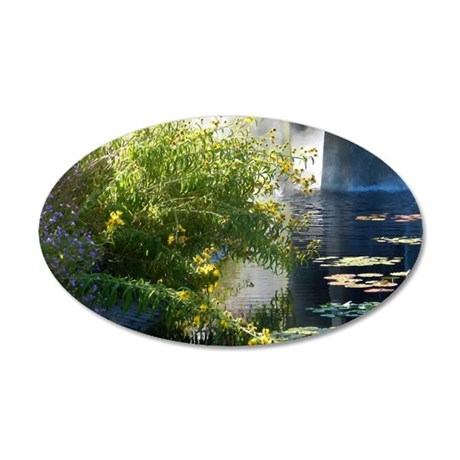Pond 35x21 Oval Wall Decal