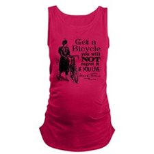 Twain Get A Bicycle Quote Maternity Tank Top