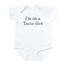 Tacos diet Infant Bodysuit
