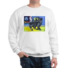 MANX CAT senses smiling moon Sweatshirt