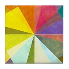 Earthy geometric background image and Tile Coaster