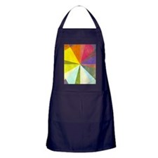 Earthy geometric background image and Apron (dark)