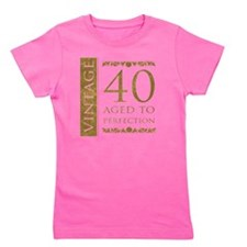 Fancy Vintage 40th Birthday Girl's Tee