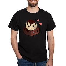 Cute cartoon of Vanilla Ice Cream on  T-Shirt