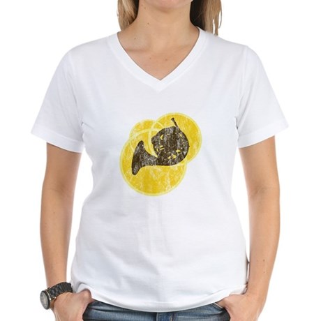 Horn Circles Women's V-Neck T-Shirt