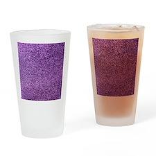 Purple faux glitter Drinking Glass