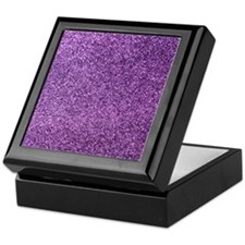 Purple faux glitter Keepsake Box