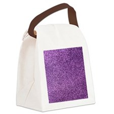 Purple faux glitter Canvas Lunch Bag