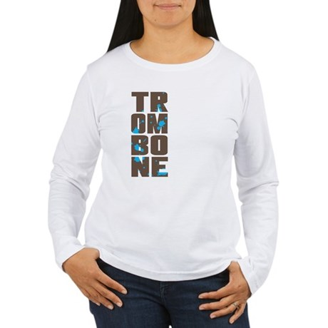 Asymmetrical Trombone Women's Long Sleeve T-Shirt