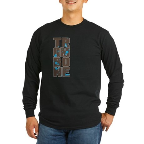 Asymmetrical Trombone Long Sleeve Dark T-Shirt