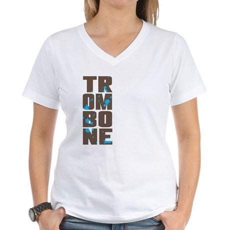 Asymmetrical Trombone Women's V-Neck T-Shirt