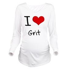I Love Grit Long Sleeve Maternity T-Shirt