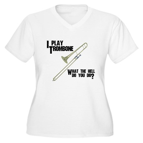Trombone Attitude Women's Plus Size V-Neck T-Shirt