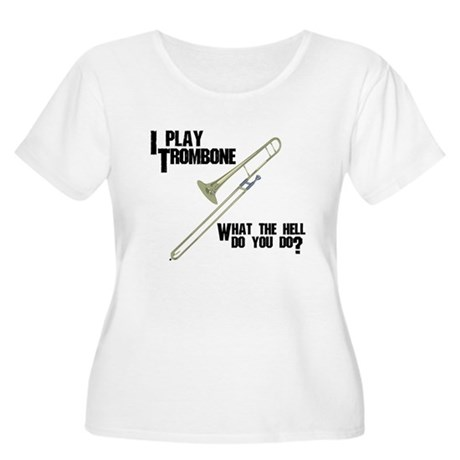 Trombone Attitude Plus Size Scoop Neck T-Shirt