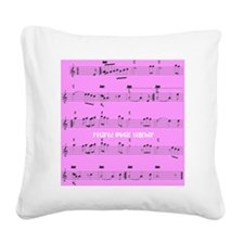 Retired Music Teacher All ove Square Canvas Pillow