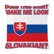 Slovakian flag designs Woven Throw Pillow