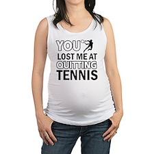 lawn tennis designs Maternity Tank Top