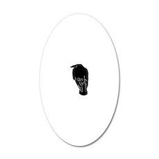 raven crow rabe krähe bird b 20x12 Oval Wall Decal