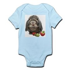 Bunny and strawberries Infant Bodysuit