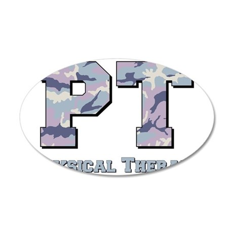 PT camo gray 35x21 Oval Wall Decal