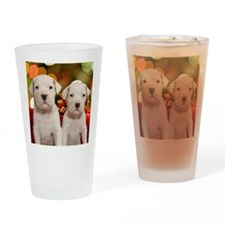Christmas Dogo Puppies Drinking Glass