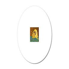 Klimts Kats 20x12 Oval Wall Decal