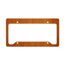 Cherry Wood Grain License Plate Holder